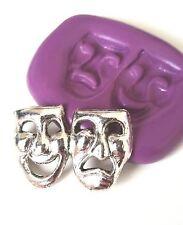 Máscaras Teatro Comedia Molde de Silicona Pastelería Pastel Decoración Fimo Resina