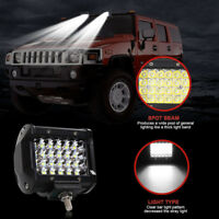 "4""72W Quad Row LED Work Light Offroad Spotlight Driving Fog Lamp Truck 4WD BoaJR"