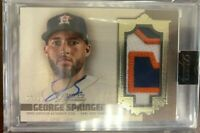 2019 Topps Dynasty Baseball George Springer 3 Color Patch Auto 07/10 Astro GSP1