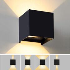 Applique cubo lampada parete luce LED regolabile biemissione 6w 12w 20w 40w IP65