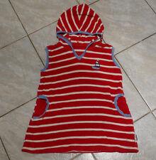 Schönstes JAKO-O Strandkleid 80 / 86 Frotteekleid mit Kapuze Retro geringelt