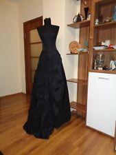 PIANOFORTE DI MAX MARA PURE SILK RUCHED A-LINE GOTH GALA MAXI FULL LENGTH SKIRT