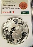 2010 MEXICO S5P IBERO-AMERICAN HISTORICAL COINS NGC PF 70 ULTRA CAMEO PERFECTION