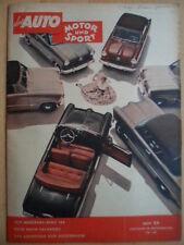AUTO MOTOR UND SPORT 28.11 - 24/1953 Test Mercedes-Benz 185 Calvados Hockenheim