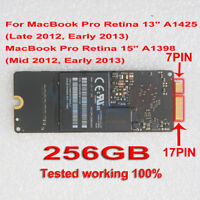 "256GB SSD 7+17 pin For MacBook Pro Retina 15"" A1398 2012 13"" A1425 Early 2013"
