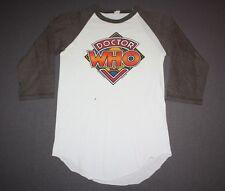 S * vtg 80s 1980 DR WHO raglan tv show t shirt * 43.145