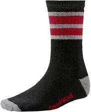 SMARTWOOL STRIPED HIKE MEDIUM CREW Mens Sock Black/Light Gray/Red 9 - 11 1/2