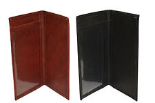 Black Friday Special - Plain Leather Checkbook covers set of 2 Black and brown