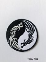 YIN YANG New Dragon Embroidered Iron On Sew On Patch Badge For Jacket Clothes