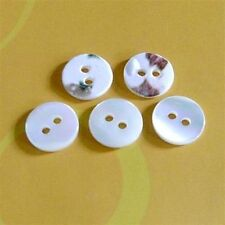 12 Real Trocas Ocean Pearl Shell Buttons Rainbow Shine 11.5mm 2H Natural D134