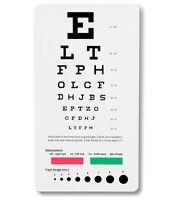 Snellen Pocket Eye Chart- 3909- 18.5cm x 10cm