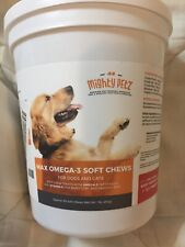 MAX Fish Oil for Dogs – Omega 3 Chews By Mighty Petz Healthy Skin/Coat 60 Chews