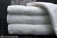 6 x 100% coton serviettes luxe 450 gsm job lot-blanc pur