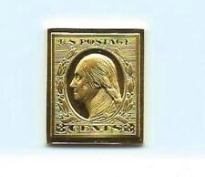 1911 United States George Washington 3Cent Stamp 24 Karat Gold Over Solid Silver