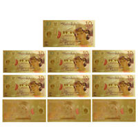 WR 10pcs Great Britain New £10 Princess Diana Ten Pound Note 2017 Xmas Gifts Her