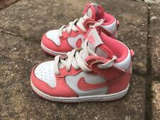 Pink And White Toddler's Nike Boots - Size UK 6.5