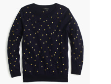 Jcrew Tippi Sweater In Embroidered Stars Size XXS  XS  S M  L XL XXL