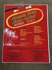 Grateful Dead Concert Poster 1982 Jamaica World Music Festival Jimmy Buffett