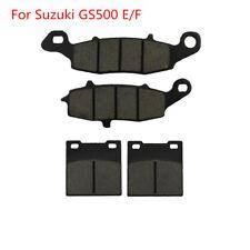 Front Rear Brake Disc Pads Kit For Suzuki GS500 GS500E GS500F 1996-2010