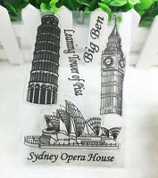 Hot Big ben Silicone Rubber Clear Stamp Seal Scrapbooking Diary Christmas Card
