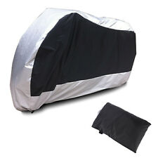 NEW Motorcycle waterproof Scooter Moped Motorbike Dust Rain Cover Silver XL