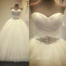 New White/Ivory Tulle Wedding Dresses Ball Bridal Gown Stock Size6/8/10/12/14/20