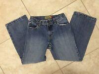 ☀️ Boys Old Navy Denim Blue Jeans Straight Leg Adjustable Waist 10 Regular