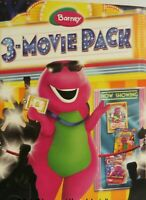 NEW ~ Barney 3-Movie Set Land of Make Believe/Lets Make Music/Night Before Xmas