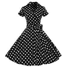 Lady 50s 60s Swing Vintage Retro Party Dress Women Housewife Rockabilly Dresses
