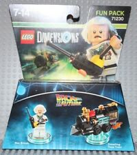 Lego Dimensions 71230 Back to the Future, Fun Pack, Doc Brown, NO BOX! New!