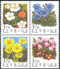 Svezia 1995 Montagna Fiori/Piante/NATURA/conservazione 4v BLK (s2824)