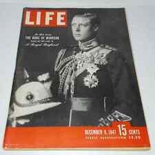 LIFE MAGAZINE Dec 8 1947 Duke Of Windsor Royal Family Camel Tobacco Complete Ads