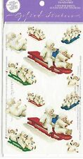 Vintage Gifted Line Victorian Christmas Snow Babies Stickers RARE Grossman