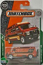2018 MATCHBOX - MBX Road Trip - 95 Custom Chevy Van - Orange - #26/35 - #102/125