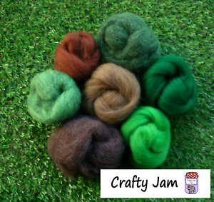 Needle Felting Forest Mix Ideal for 3D Projects. Felting Wool 45g