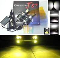 LED Kit C 80W 9003 HB2 H4 3000K Yellow Fog Light Two Bulbs High Beam Replacement