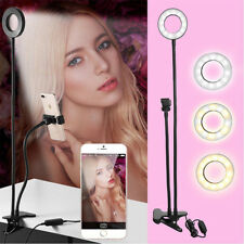Selfie 24 LED Light Ring Flash Fill Clip Camera USB Mobile Phone+Long Arm`Hol PQ