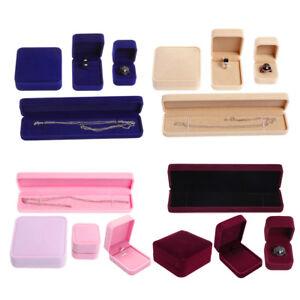 Jewelry Box Storage Presentation Bracelet Earrings Necklace Ring Velvet Case