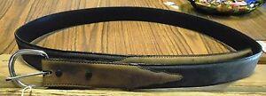 """New Silver Creek Leather Belt 54"""" x 1 7/16"""" Men's Women's Western Dress Black NR"""