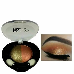 KG DUO COLOUR EYESHADOW 026 BROWN / COPPER & FREE COMPACT MIRROR x 1 **NEW**