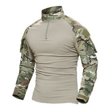 TACVASEN Men Tactical Military Combat Shirt Pockets Camouflage Breathable Shirts Atas FG 5xl