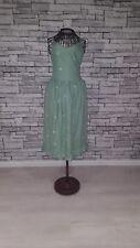 Size UK 6 8 BNWT HUSH Green Silver Star Embroidered 'Tori' Strap Midi Sun Dress