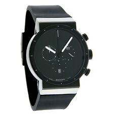 Movado Sapphire Synergy Mens Black Museum Swiss Quartz Chronograph Watch 0606501