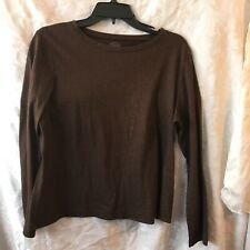 Brown Glitter top-Talbots-Petite Large