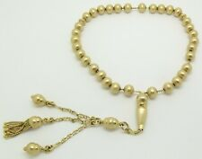 SOLID 18CT YELLOW GOLD BALL ROSARY BEAD BRACELET