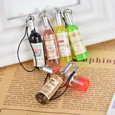 2PCS Mini Cute Wine Bottle Keyring Keychain Charm Pendant Decor Craft&&BRIL