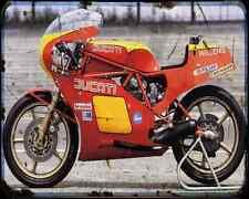 Ducati 500 Pantah Tt2 A4 Photo Print Motorbike Vintage Aged