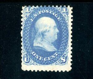 USAstamps Unused FVF US 1861 Civil War Issue Franklin Scott 63 OG MHR