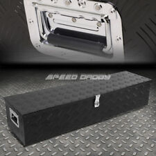 "49""X13""X10"" BLACK ALUMINUM PICKUP TRUCK TRUNK BED TOOL BOX TRAILER STORAGE+LOCK"