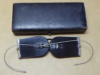 Double D Railroad spectacles, Dekko, Heberlein & Co Rawalpindi, in box.
